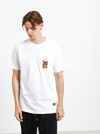 Grizzly Griptape Lucky Bear Pocket T-shirt (white)