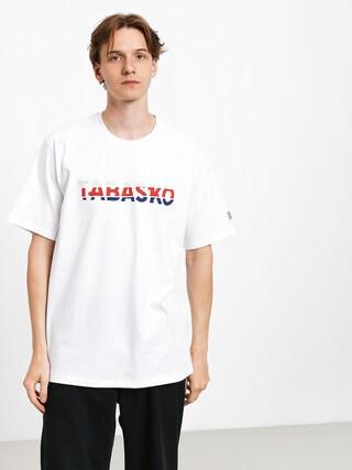 Tabasko Tag Split T-shirt (white)