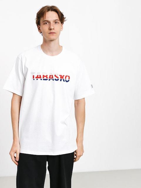 Tabasko Tag Split T-shirt (white)