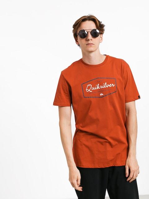 Quiksilver Inside Lines T-shirt (burnt brick)