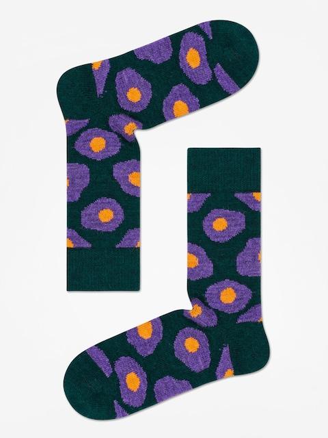 Happy Socks Wool Sunny Side Up Socks (dark green)