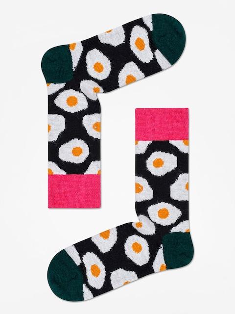 Happy Socks Wool Sunny Side Up Socks (black/dark green)