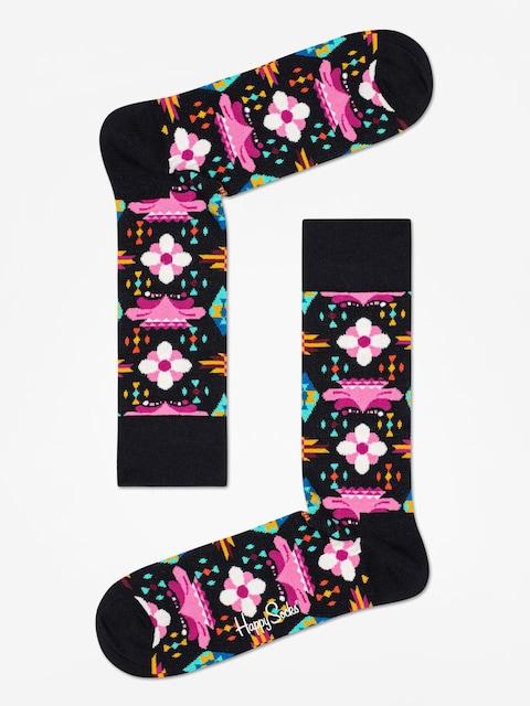 Happy Socks Temple Blossom Socks (black/multi)