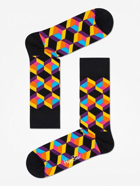 Happy Socks Optiq Square Socks (black/multi)
