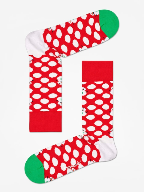 Happy Socks Big Dot Snowman Socks (red/white)