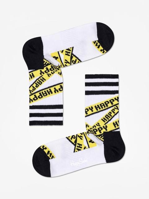 Happy Socks Athletic Ribbon Mid High Socks (white/black)