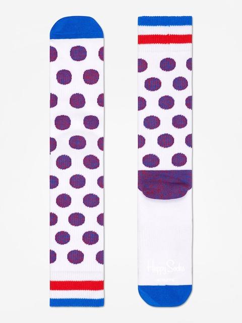 Happy Socks Athletic Big Dot Socks (white)