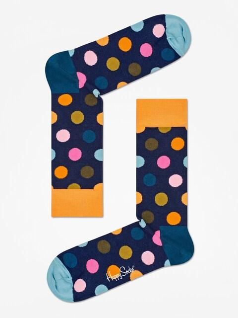 Happy Socks Big Dot Socks (orange/navy/teal)