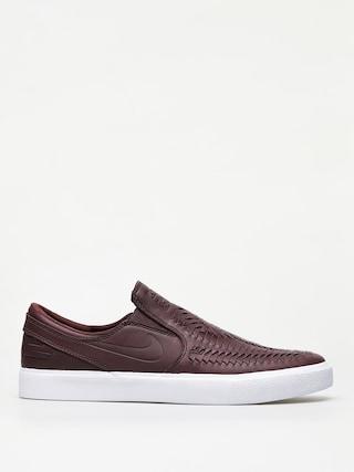 Nike SB Zoom Janoski Slip Rm Crafted Shoes (mahogany/mahogany white gum light brown)
