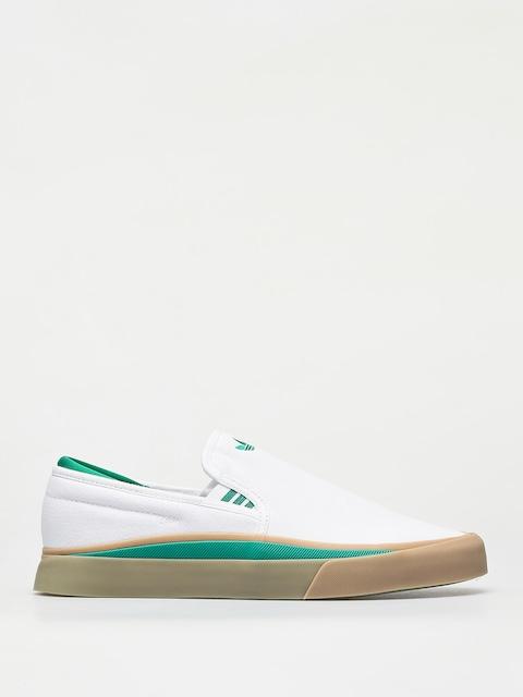 adidas Sabalo Slip Shoes (ftwr white/bold green/gum4)