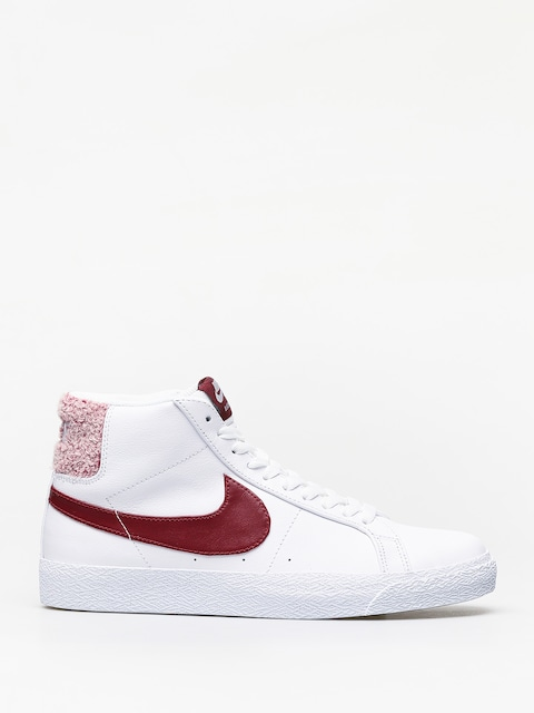 Nike SB Zoom Blazer Mid Prm Shoes (white/team red)