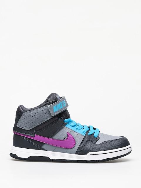 Nike SB Mogan Mid 2 Jr Gs Shoes (cool grey/vivid purple blue lagoon)