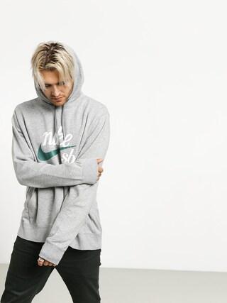 Nike SB Washed Icon HD Hoodie (dk grey heather/summit white/bicoastal)
