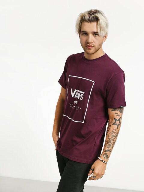 Vans Print Box T-shirt (prune/white)