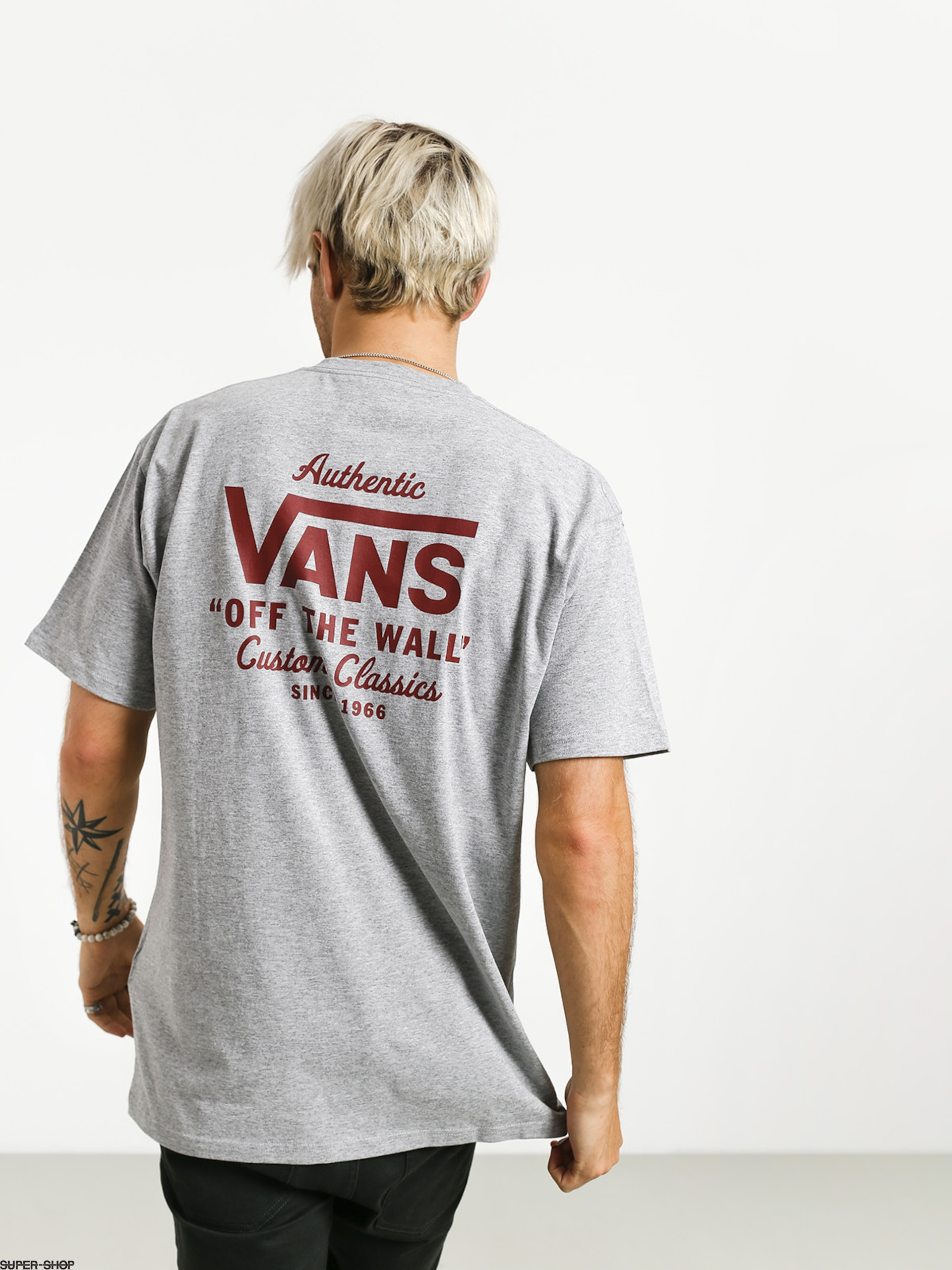 Vans Holder St Classic T Shirt Athletic HeatherBiking Red