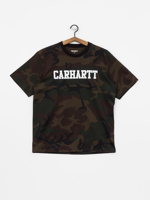 Carhartt WIP College T-shirt (camo evergreen/white)