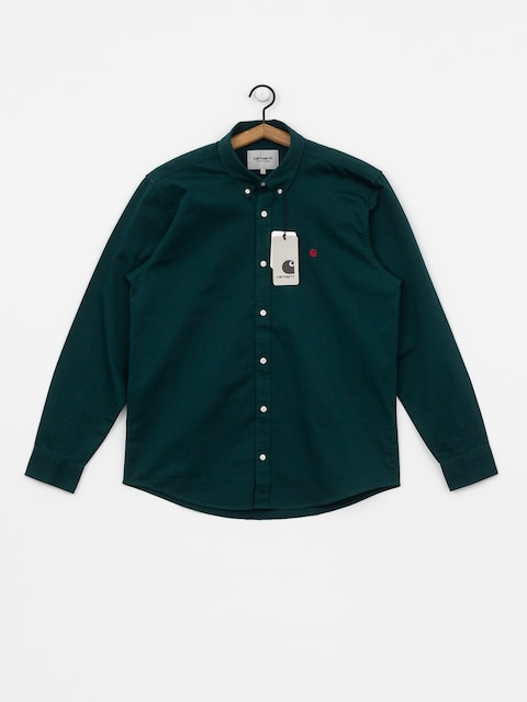 Carhartt WIP Madison Shirt (dark fir/merlot)
