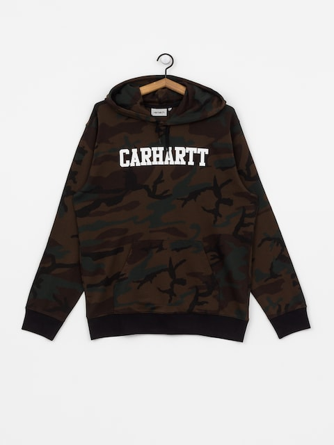 Carhartt WIP College HD Hoodie (camo evergreen/white)