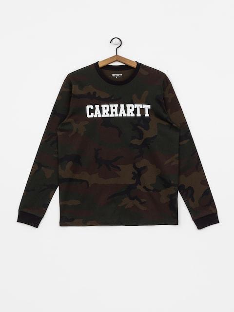 Carhartt WIP College Longsleeve (camo evergreen/white)