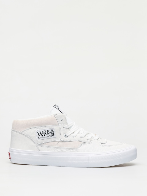 Vans Half Cab Pro Shoes (leather/white)