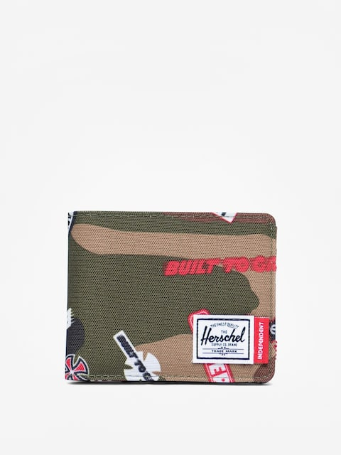 Herschel Supply Co. Independent Roy Wallet (woodland camo multi independent logo)