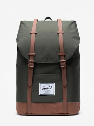 Herschel Supply Co. Retreat Backpack (dark olive/saddle brown)