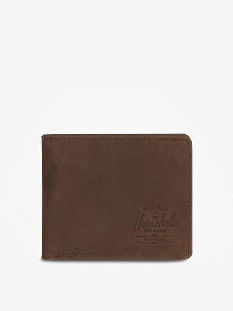 Herschel Supply Co. Hank Coin Leather Rfid Wallet (nubuck brown)