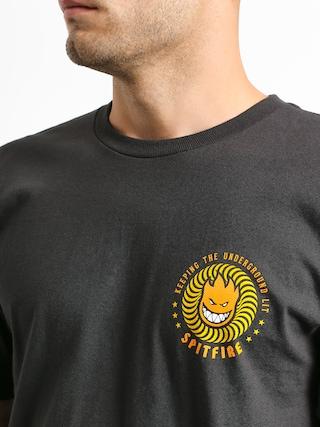 Spitfire K T U L T-shirt (tar/yellow/orange)