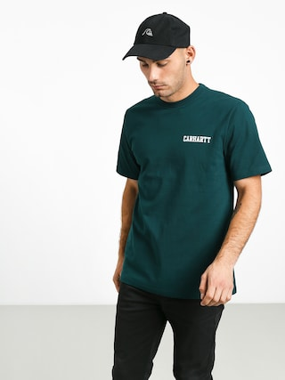Carhartt WIP College Script T-shirt (dark fir/white)