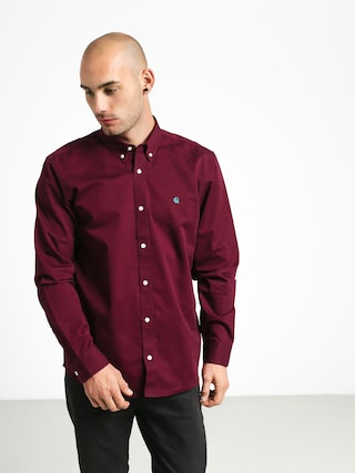 Carhartt WIP Madison Shirt (merlot/dark fir)