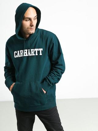 Carhartt WIP College HD Hoodie (dark fir/white)