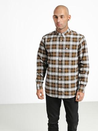 Carhartt WIP Linville Shirt (linville check hamilton brown/wax)