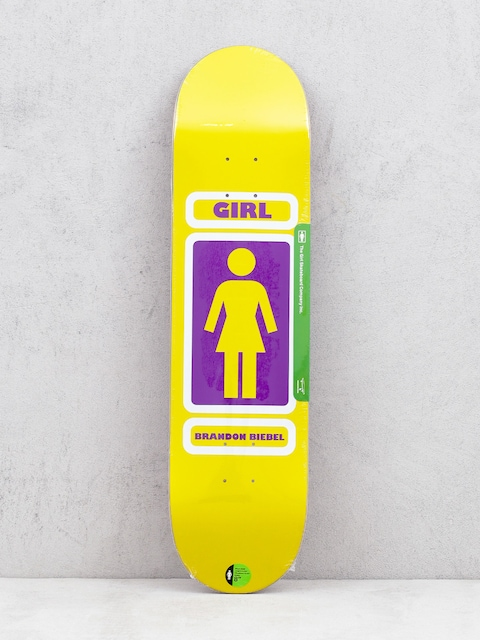 Girl Skateboard Biebel 93 Til Deck (yellow)