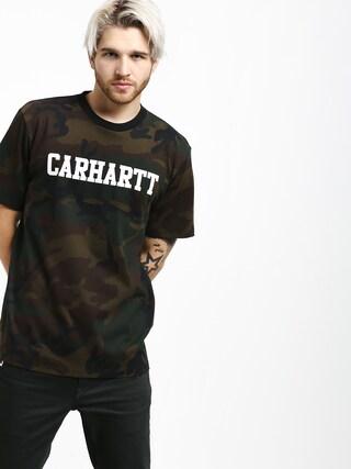 Carhartt WIP College T-shirt (camo evergreen/white)