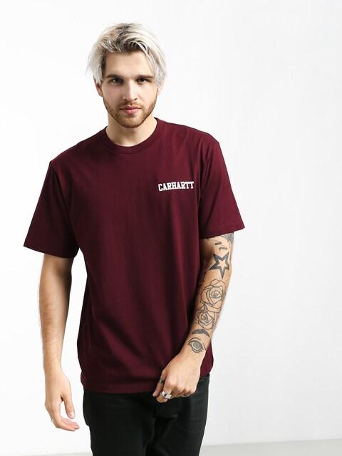 Carhartt WIP College Script T-shirt (merlot/white)