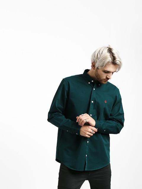 Carhartt WIP Madison Shirt (dark fir/merlot)