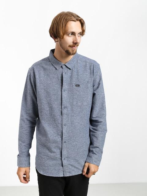 RVCA Blackand Flannel L Shirt (china blue)