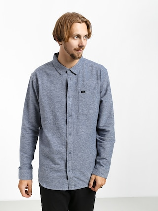 RVCA Blackand Flannel L Shirt (china blue)