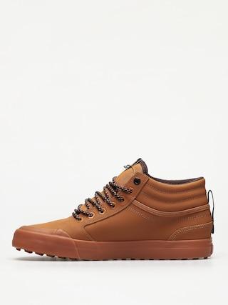 DC Evan Hi Wnt Shoes (wheat/dk chocolate)