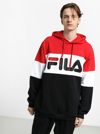 Fila Night Blocked HD Hoodie (true red/black/bright white)