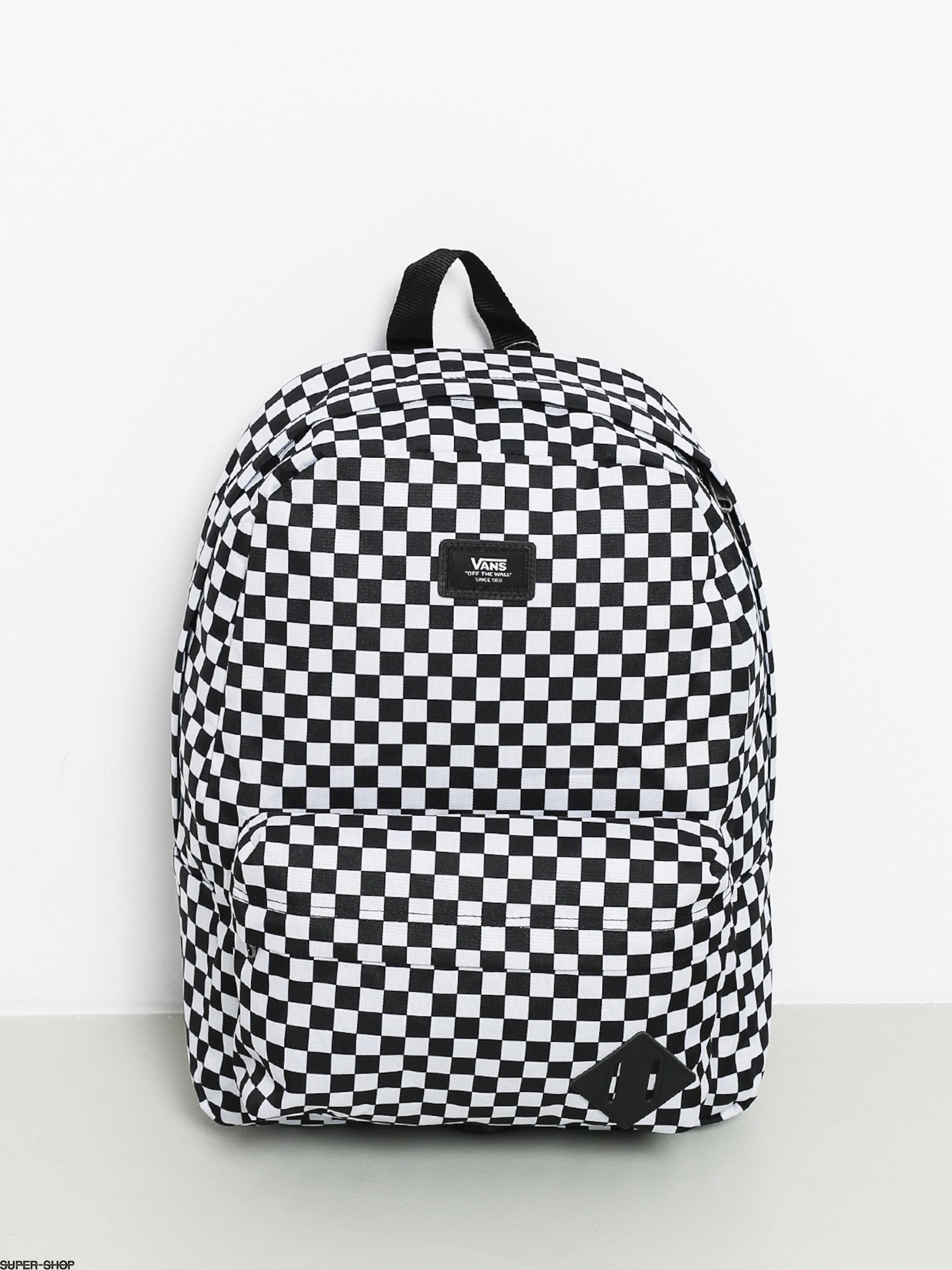 Vans Old Skool II backpack black white checked