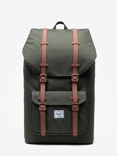 Herschel Supply Co. Little America Backpack (dark olive/saddle brown)