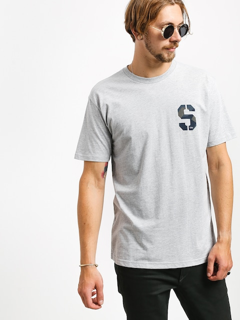 Supra Stencil T-shirt (grey heather/geo camo)