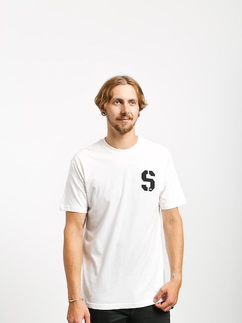 Supra Stencil T-shirt (white/black)