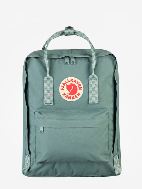 Fjallraven Kanken Backpack (frost green/chess pattern)