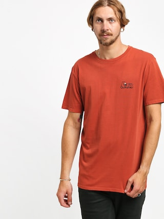 Quiksilver Bouncing Heart T-shirt (burnt brick)