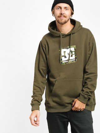 DC Square Star HD Hoodie (fatigue green/camo)