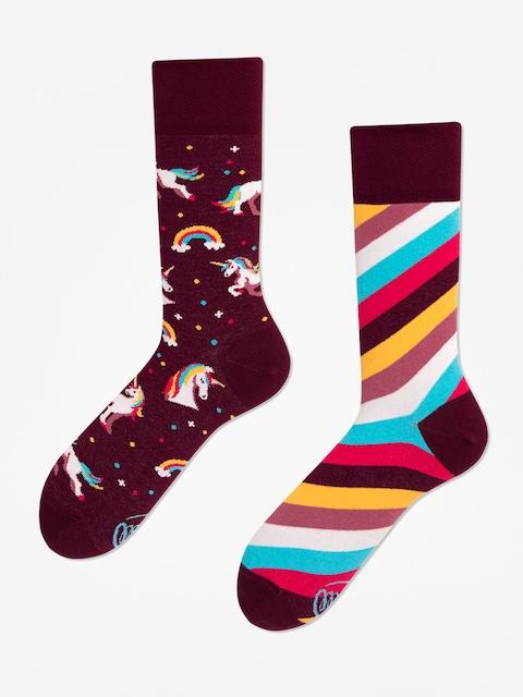 Many Mornings The Unicorn Socks (burgundy)