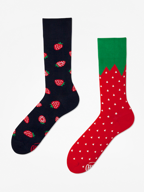 Many Mornings Strawberries Socks (navy/red)