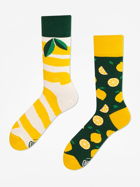 Many Mornings The Lemons Socks (yellow/green)